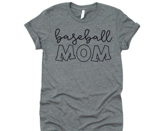 Baseball Mom Shirt, Baseball Mom T-shirt