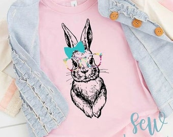 Easter Bunny With Glasses T-shirt