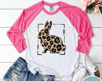 Leopard Bunny Raglan