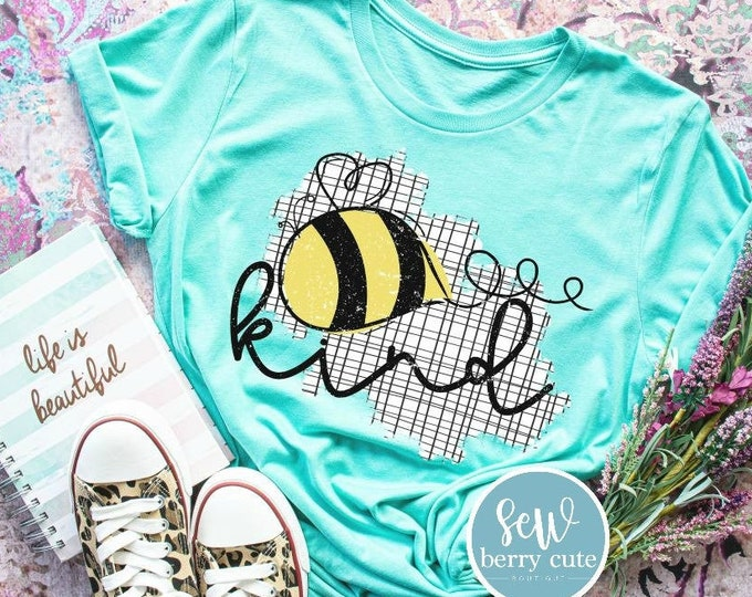 Featured listing image: Bee Kind T-shirt, Youth or Women's T-shirt