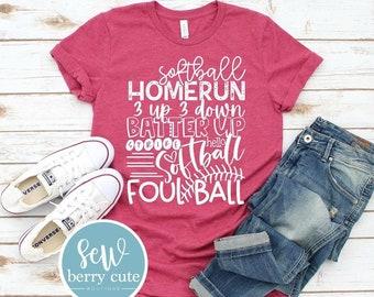 Softball Tee,  Softball  Mom T-Shirt, Softball