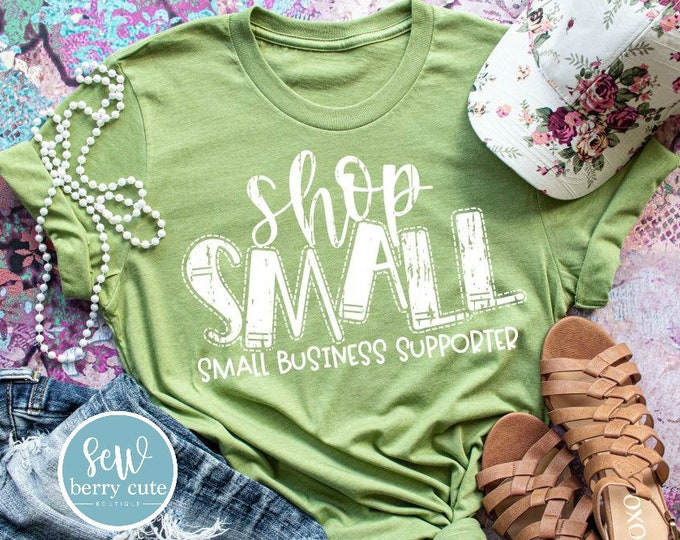Featured listing image: Shop Small Small Business Supporter, Women's T-shirt