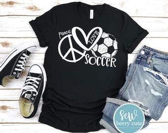 Peace Love Soccer, Soccer Mom T-Shirt