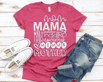 Mom Mama Madre Momma Mother Mommy Ma, Graphic Tee