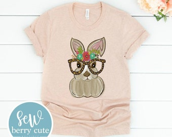 Leopard Floral Bunny