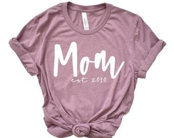 Mom Shirt, Mom Established, Mama Shirt