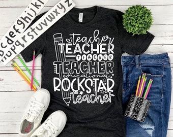 Teacher Shirt, Educational Rockstar
