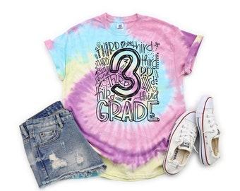 Grade Level Tie Dye Teacher Shirt, Back to School