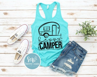 Happy Camper Tank Top OR T-shirt