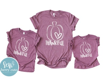 Thankful T-Shirts, Mommy and Me Match, Fall Tee