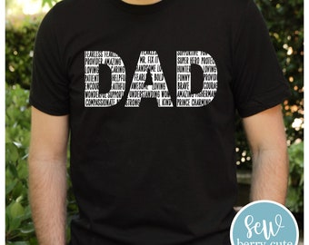 Dad Word Art T-Shirt, Father's Day Gift