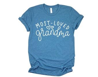 Most Loved Grandma, Mimi, Gigi, Nana, Mother's Day Gift