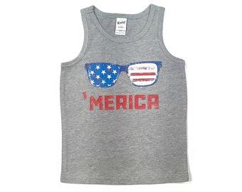 Merica Tank Top, Patriotic Shirt