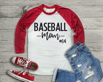 Baseball Mom Shirt, Personalized Baseball Mom Shirt, Baseball Raglan, Baseball Grandma, Baseball Mom, Baseball Sports Mom, Baseball