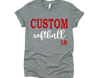 Custom Softball Shirt, Softball Mom T-shirt, Softball Mom Tee,  Softball