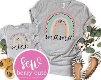 Mini ADULT SIZE Rainbow T-Shirts