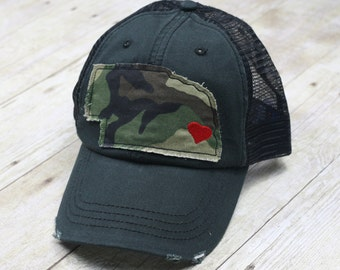 READY TO SHIP Nebraska Hat, Camo Nebraska Hat