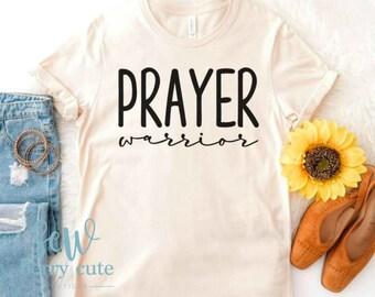 Prayer Warrior, Christian T-shirt, Graphic T-shirt