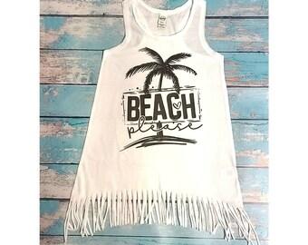 Beach Please Fringe Dress, Swim Cover Up