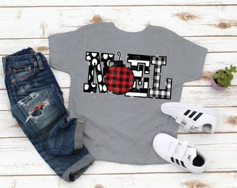 READY TO SHIP Kids/Youth Noel T-shirt