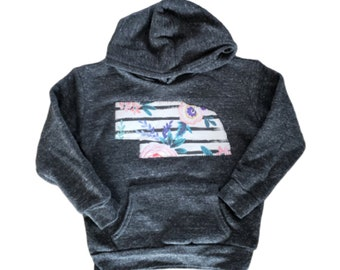 READY TO SHIP  Toddler/Youth/Adult Nebraska Hoodie
