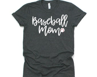 Baseball Mom T-Shirt, Baseball Mom