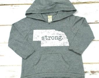 Nebraska Strong Girls Lightweight Hoodie