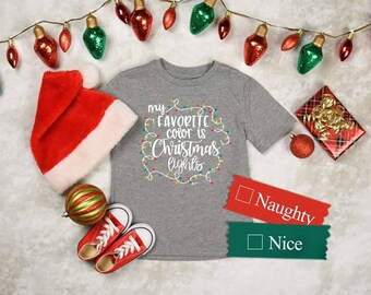 My Favorite Color is Christmas Lights KIDS T-shirt