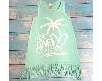 Live Love Beach Fringe Dress, Swim Cover Up
