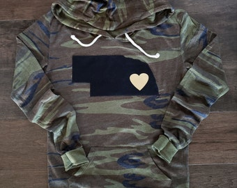 Nebraska Hoodie, Camo Nebraska Hoodie, Nebraska Shirt