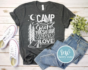 Camp Tents Smores Love TODDLER and YOUTH