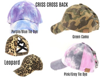 CC Criss Cross Back Hat with blessed or mama