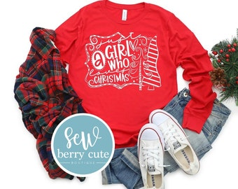 Just a Girl Who Loves Christmas, Graphic T-Shirt, Funny T-shirt