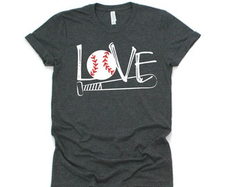 Baseball Love T-shirt, Baseball Mom
