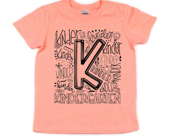 Kindergarten T-shirt, First Day of School
