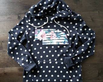 Nebraska Hoodie, Polka Dot Nebraska Hoodie, Nebraska Shirt, Nebraska Sweatshirt