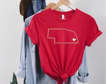 Nebraska State Outline T-shirt