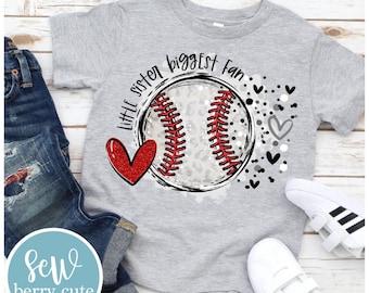 Baseball Sister T-Shirt, Little Sister Biggest Fan Shirt