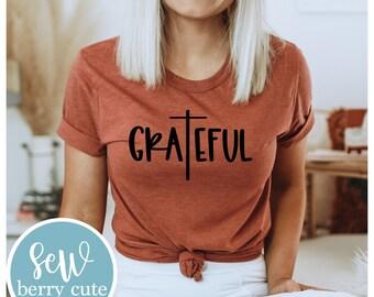 Grateful T-shirt, Women's Graphic Tee
