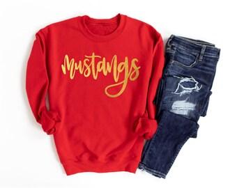 GOLD FOIL Mustangs Sweatshirt