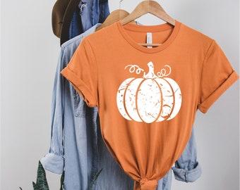 MYSTERY COLOR Pumpkin Unisex T-shirt, Fall T-shirt