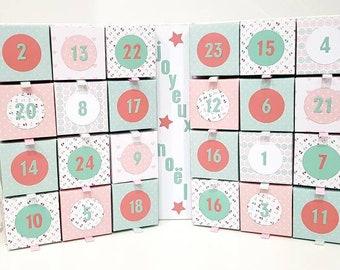 Advent calendar, book calendar, Christmas gift.