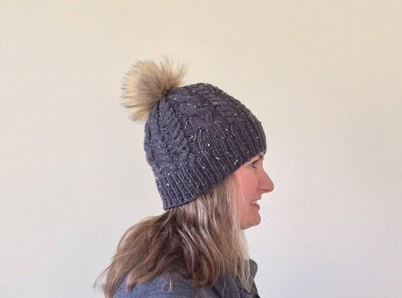Faux Fur Pom Pom Beanie Faux Fur Pom Pom Hat Women s  d147437db7