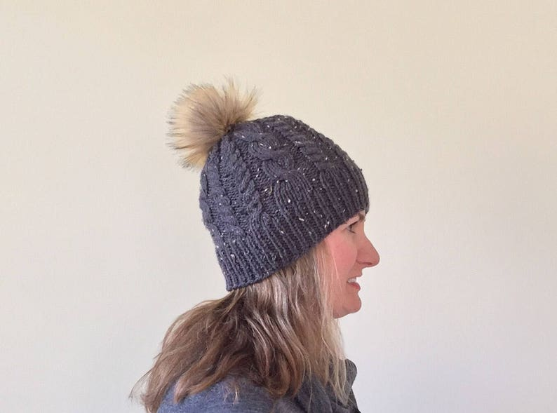 e41b3c67176 Faux Fur Pom Pom Beanie Faux Fur Pom Pom Hat Women s
