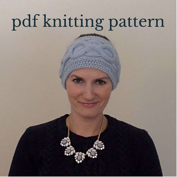 Cable Knit Headband Knitting Pattern Cable Knit Ear Warmer Etsy