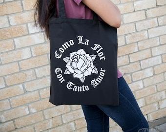 Como La Flor -Selena Quintanilla - Cotton Canvas Tote bag