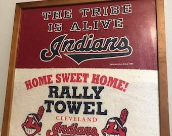 Vintage Cleveland Indians Custom Rally Towels Mint 1990's