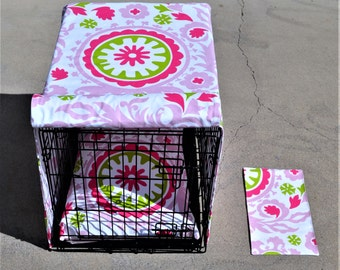 PRE-WASHED, GIFT with purchase,  Choose Fabric Crate Cover with a Double Front Panel, Kennel cover, Premier Prints