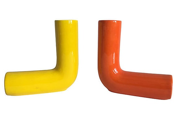 1960s Italian Modern Vases - a Pair