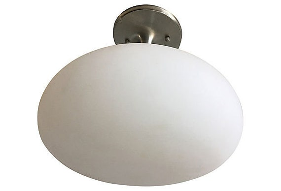 Modern Mushroom Semi-Flush Light